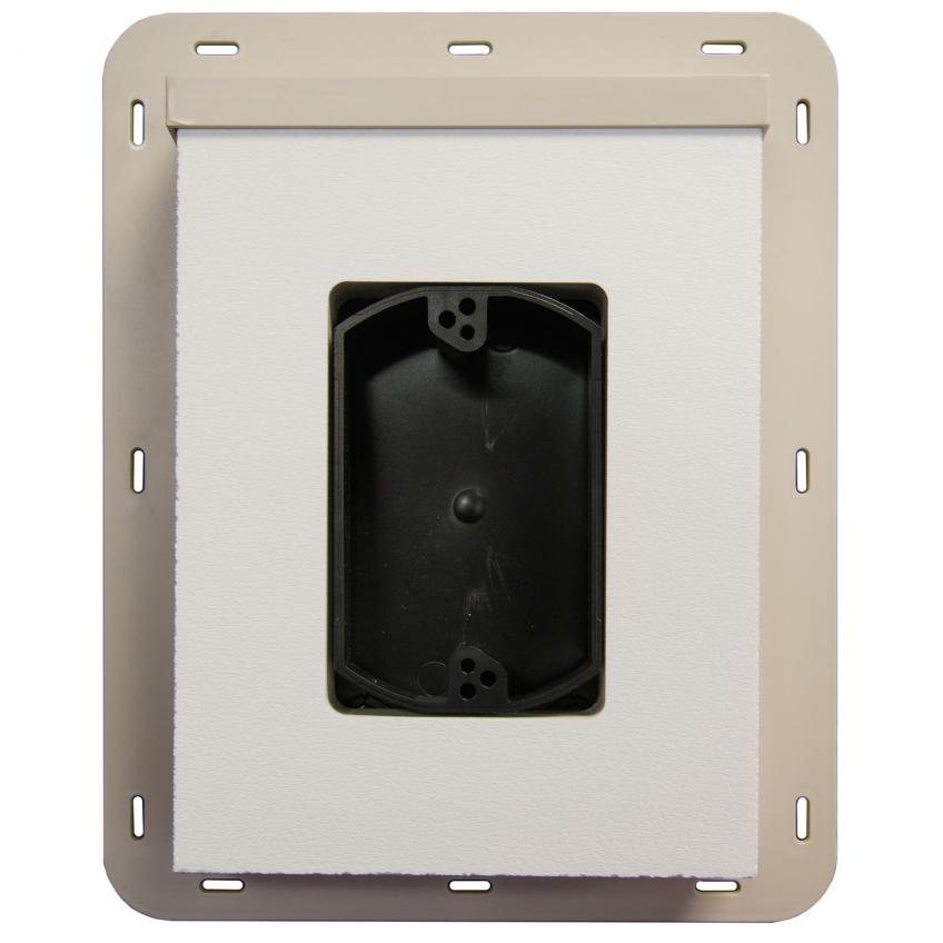 SturdiMount is a receptacle that allows electrical connections to be made over the housewrap. Ideal for new construction or remodeling, the fiber cement mounting block provides water management capabilities that prevent damage to fiber cement, stucco, and wood siding. It has a built-in flange and comes in four profiles.