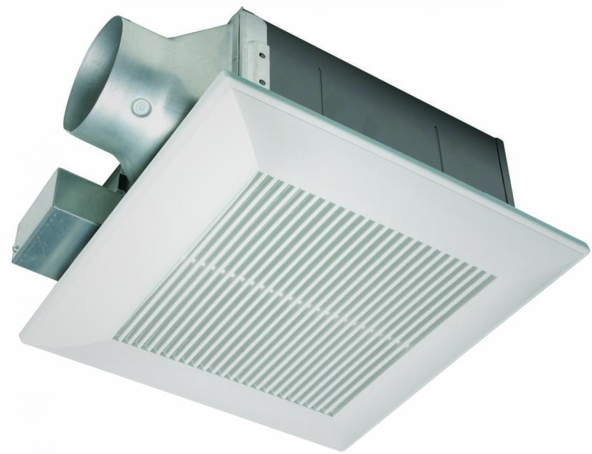 The Energy Star–rated WhisperFit EZ is easy to install and a good option when you want to replace an existing fan from below the ceiling.  The product lets users utilize the existing duct, while its 5 5/8-inch housing fits most ceilings. The FV-08-11VFM5 model has a motion sensor with a 20-minute off-delay timer that activates the fan when someone enters the room. The line has a Pick-A-Flow speed selector so users can adjust the ventilation to their needs (80 or 110 cfm).