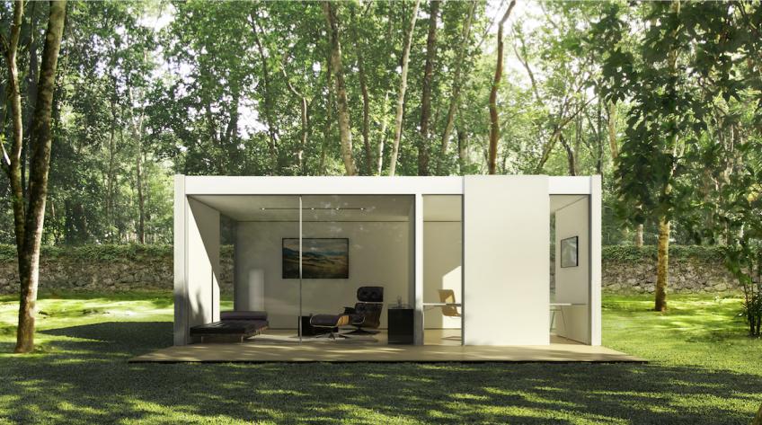 Cover prefab backyard studio