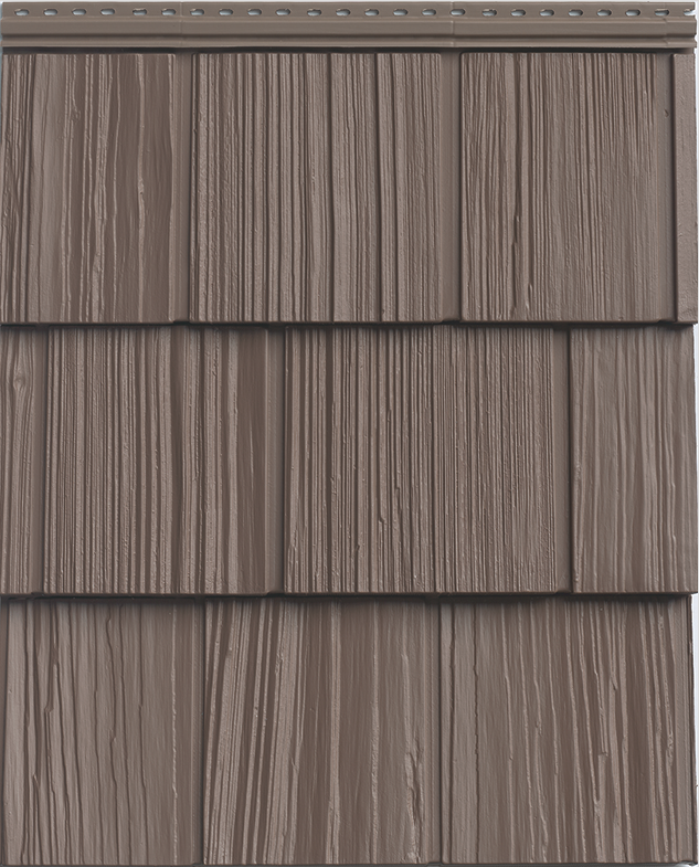 """The Uptown Collection vinyl siding line comes in high-impact colors and a number of different profiles. Designed to simulate the look of real cedar, the siding comes in contemporary hues that """"tap into today's hottest color trends and complement almost any finish,"""" the company says. They also provide a refined backdrop for a bold pop of color on the doors and windows, the company adds."""