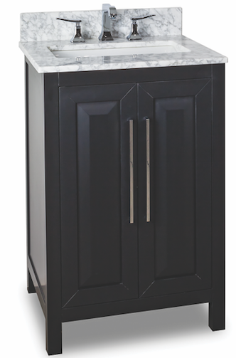 Jeffrey-Alexander-Cade-Contempo 24 inch vanites for small bathroom in black