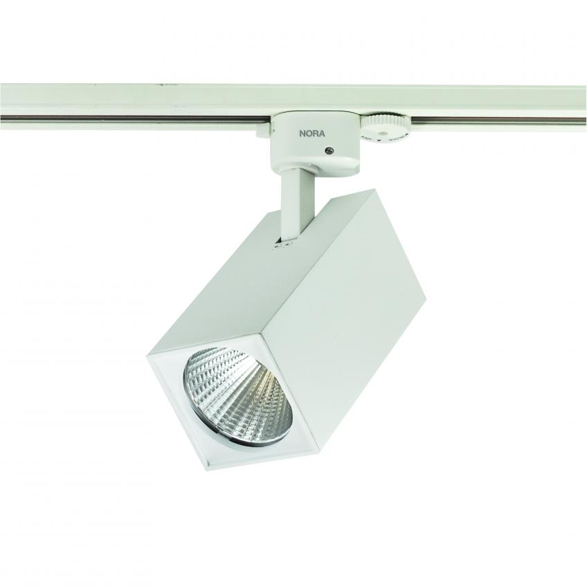 Ideal for display lighting, the Jason LED track head includes an integral driver and is offered in 30K and 35K with 18, 26, and 33 watts. It's made from die-cast aluminum and is available in black and white with a cylindrical- or rectangular-shaped housing. Three lumen outputs are available for lighting flexibility, the company says.