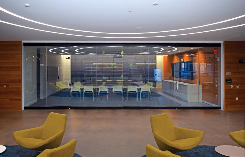 NanaWall Debuts Glass Wall System With Visual Privacy On Demand