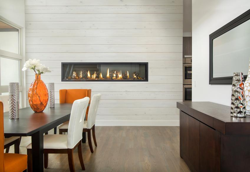 "Hearth Maker Napoleon says its new Luxuria Linear Series fireplace is a sleek contemporary unit that also boasts and ""industry-unique"" Dynamic Heat Control and Glass Guard Systems."