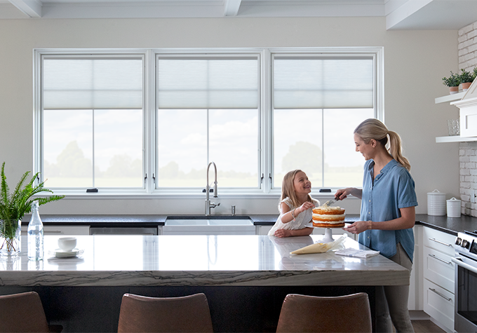 Pella lifestyle Series kitchen mother daughter models