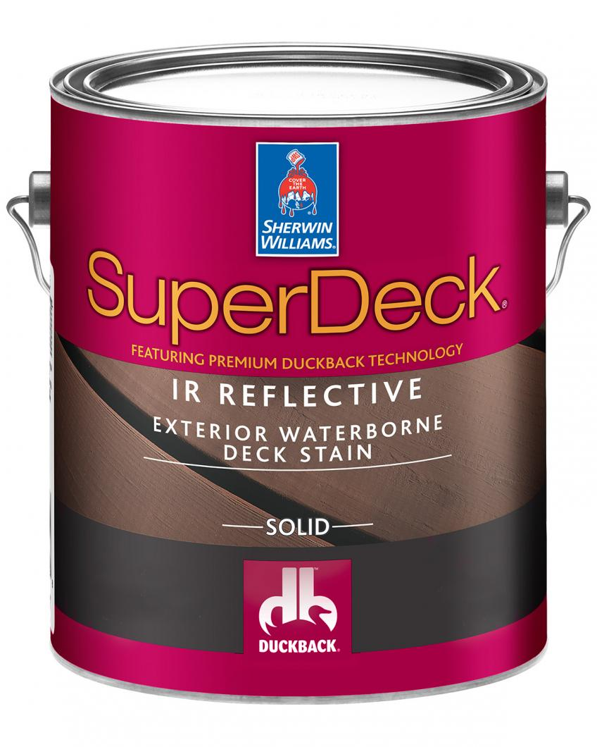 Sherwin-Williams deck stain: SuperDeck Can