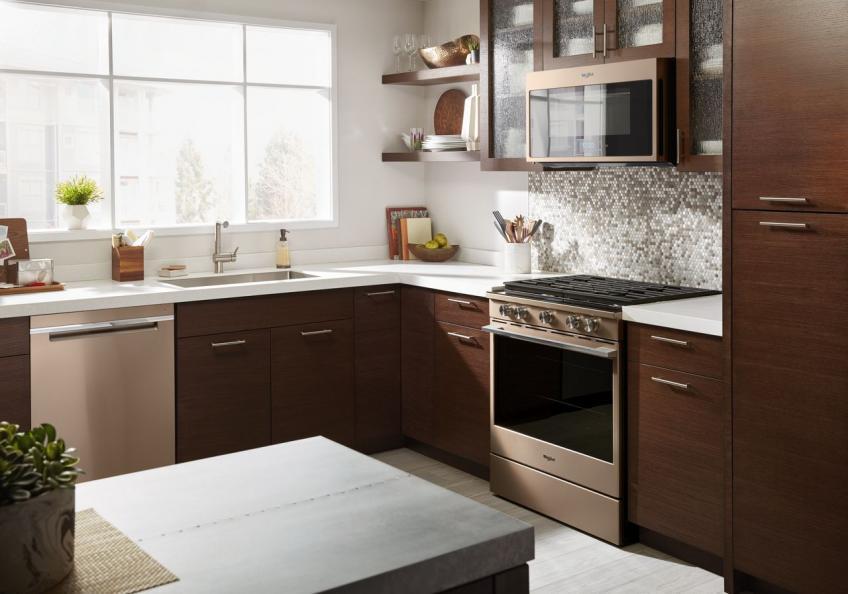 Whirlpool sunset bronze smart appliances