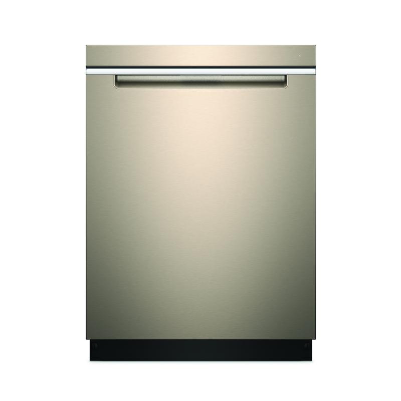 Whirlpool smart dishwasher in sunset bronze