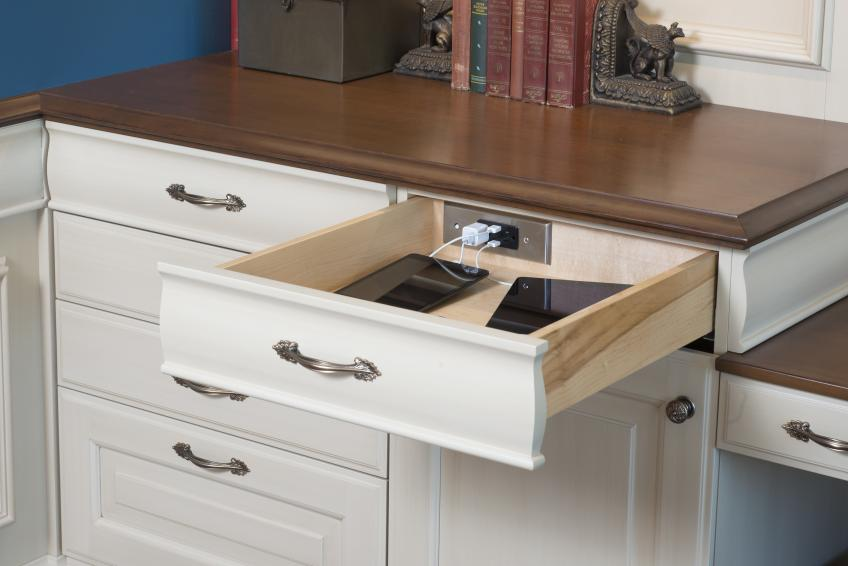Wood-Mode Docking Drawer outlet