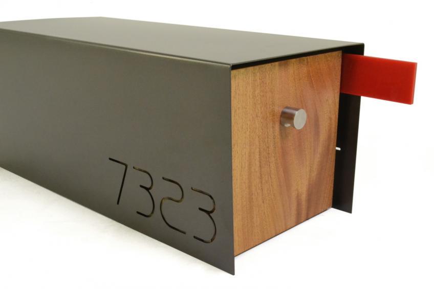 bronze detail contemporary mailbox