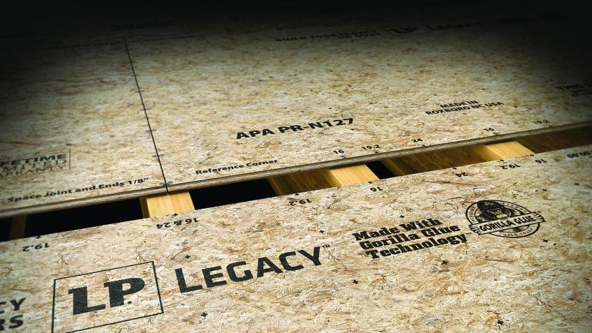 LP Legacy subflooring