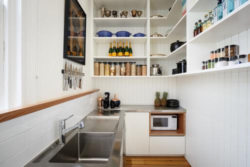 Open kitchen shelving is all the rage now, but before you give it to your clients and buyers there are some things to consider.