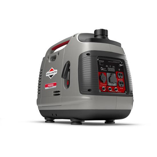 The new P2200 PowerSmart Series inverter generator is equipped with parallel capabilities, so it can be tethered together with either a second P2200 or a P3000 inverter for additional power. It has a control panel with three outlets (two 120-volt outlets and one 12-volt DC battery-charging outlet) and a USB adapter to power lights, music, and more.
