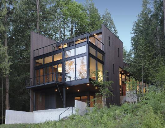 Aluminum thermal break Dark Bronze windows