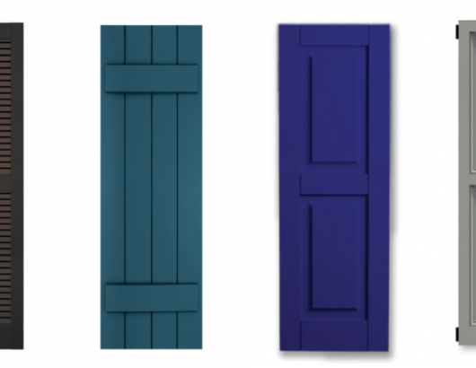 Exterior shutter options for personalized homes