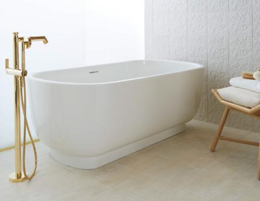Kallista Soaking Tub with Brass faucet Bath