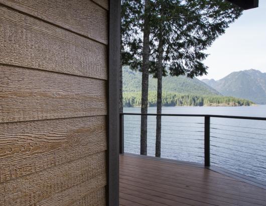 LP Trim on a lake house