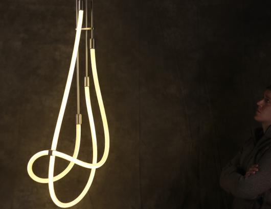 Luke Lamp Co.'s Langhorne line blurs the line between light fixture and art.