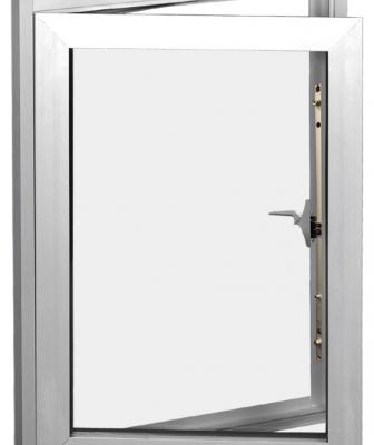 Ideal for multifamily applications, the Crystal Series 8500/8600 aluminum window line features a 25⁄8- or 31⁄4-inch frame depth and 1- or 11⁄4-inch insulated glass. The continuous master frame allows for combinations of up to three windows in one grouping. Four styles are available: out-swing casement, fixed, project-out awning, and project-in hopper.