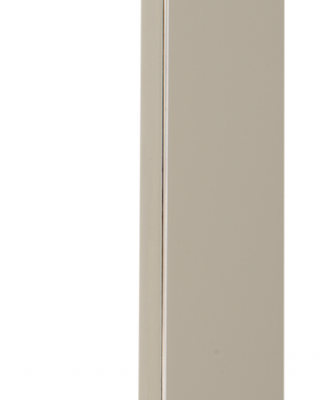 Featuring a nearly 1½-inch-thick design, the Platform pull has a simple-yet-bold aesthetic. It's available in sizes from 3¾ inches to 11 5⁄16 inches long and comes in polished nickel, polished chrome, and brushed nickel.