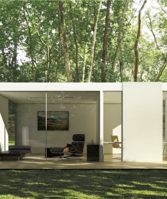 Cover prefab backyard studio