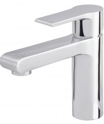 Offering geometric forms and space-conscious scale, the South Shore Collection is an affordably priced faucet line with upscale features. It uses ceramic disc valves for durability and a 50/50 touch-down drain. Offered in chrome and brushed nickel, the faucet uses 1.2 gallons per minute. The collection includes a single-handle lavatory faucet, widespread faucet, and tub/shower products.