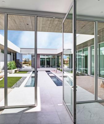 Kolbe Windows Doors VistaLuxe AL LINE Patio Door Anodized Aluminum Finish PF101