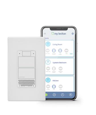Leviton Decora Voice controlled Dimmer with cell phone app
