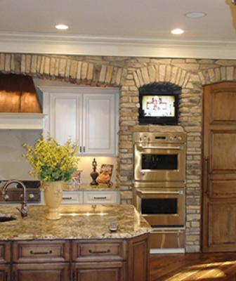 Although manufactured stone ranks high among home remodeling projects and adds incredible visual interest and curb appeal to the outside of the home, many homeowners are also choosing to bring that natural-looking texture and color inside. ProVia decorative stone can add architectural appeal to almost any room—from bathroom and spa surrounds to kitchen walls and backsplashes.