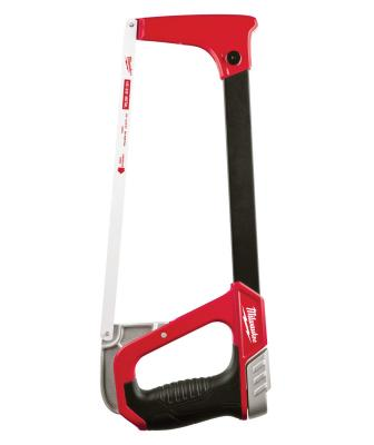The company has added a 12-inch high-tension hacksaw (48-22-0050) to its hand tool lineup. Offering up to four times higher tension than other saws, it has a reinforced metal frame and a high-leverage tension knob that allows the user to easily tighten the blade to the highest tension needed. In addition, the tool features storage capacity for six blades as well as a 45-degree blade position for a better angle on flush cuts.