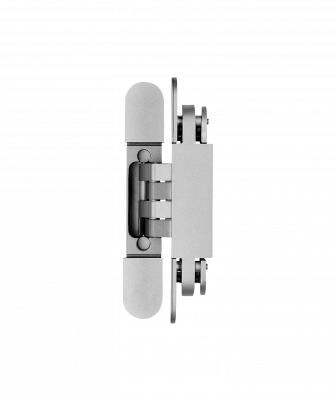 The German-made DX61 hardware can be adjusted up/down, left/right, and in/out to achieve perfect alignment during and after installation of the door. Two hinges support 176 pounds, and hinge caps can be placed after installation to give it a modern finish without visible screws.