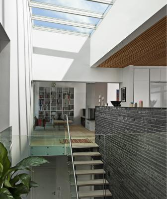 Velux America has created a new Venting Modular Skylight (VMS) line that is designed to open up large spaces while creating a light-filled and spacious environment.