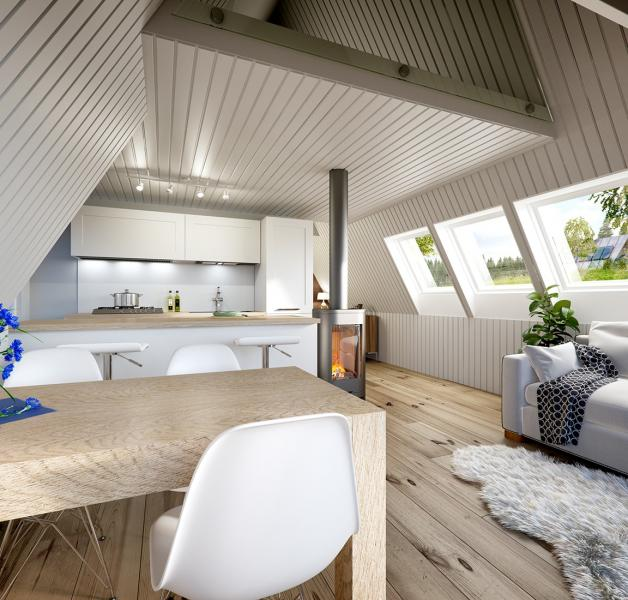 Avrame A-Frame Housing Kits Duo interior alternate shot