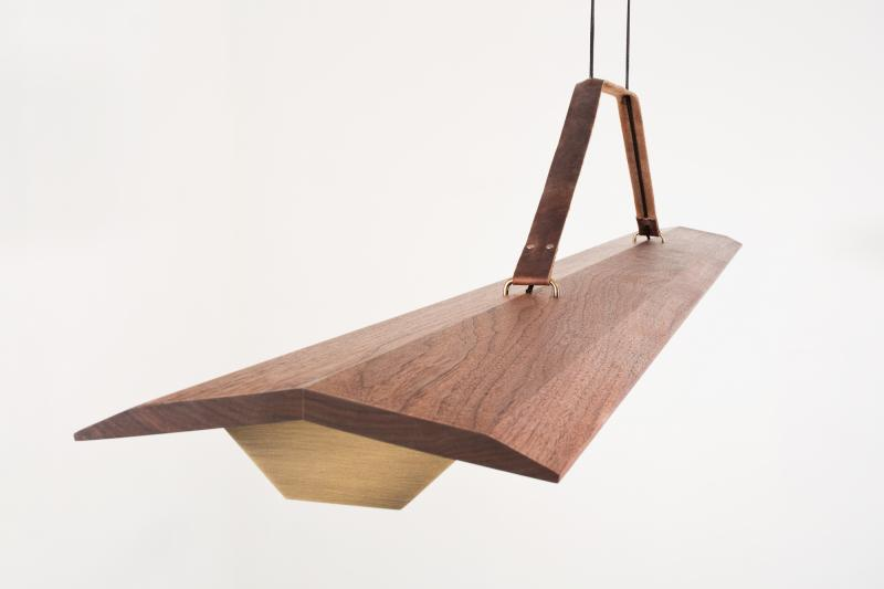 Cerno Group Penna Collection Linear Pendant Closeup