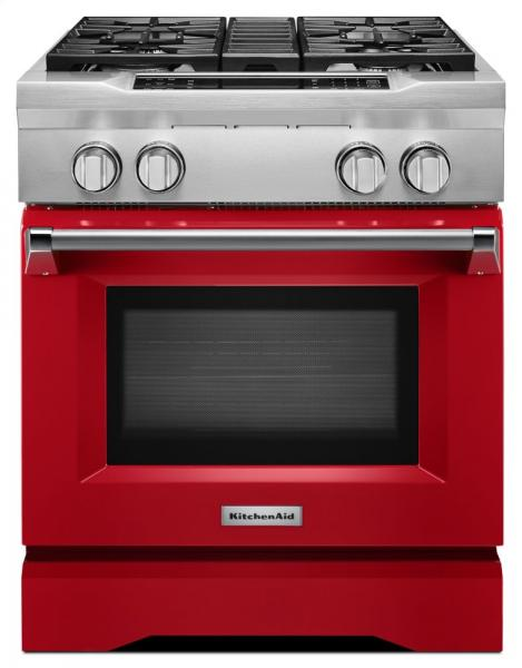 1 KitchenAid Red 30 inch gas range FRKMAHGUEYXX