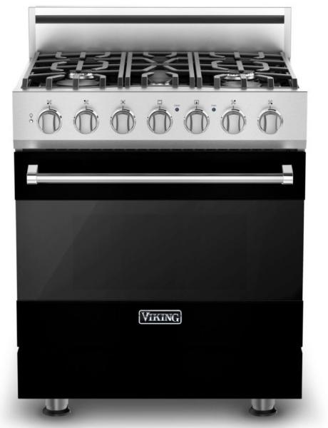 11 Viking 3 Series RVDR33025BBK 30 Inch Freestanding Dual Fuel