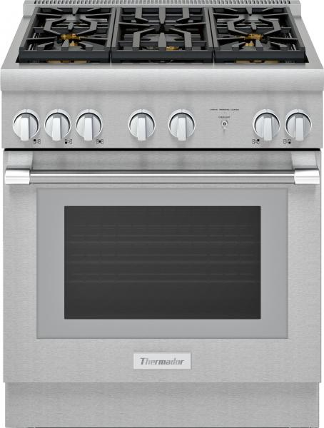 12 Thermador Pro Harmony Professional Series PRD305WHU 30 Inch Pro Style Dual Fuel Range