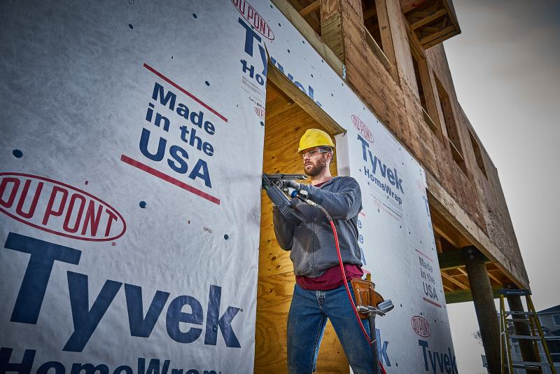 3 Dupont Tyvek homeWrap housewrap Install