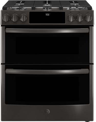 3 GE Profile 30 Inch Smart Slide In Gas Range in black stainless steel range front 59d3e0d1a8bb0 3c710