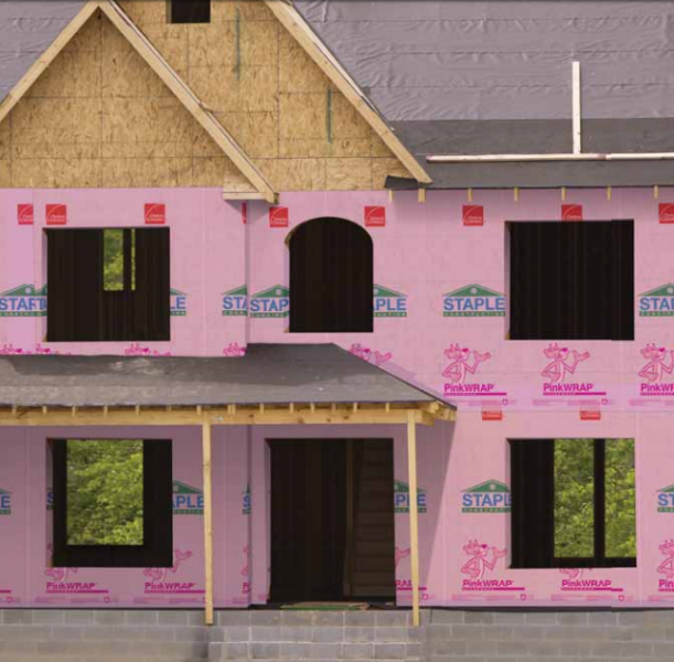 6 Owens Corning PinkWrap House Installation