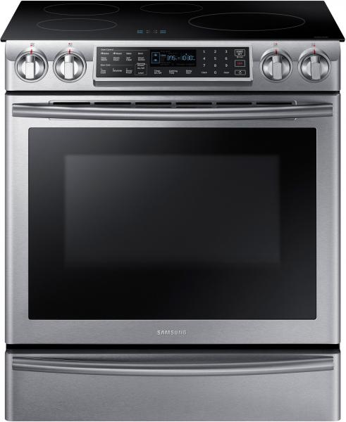 7 Samsung NE58K9560WS 30 Inch Induction Slide in Range