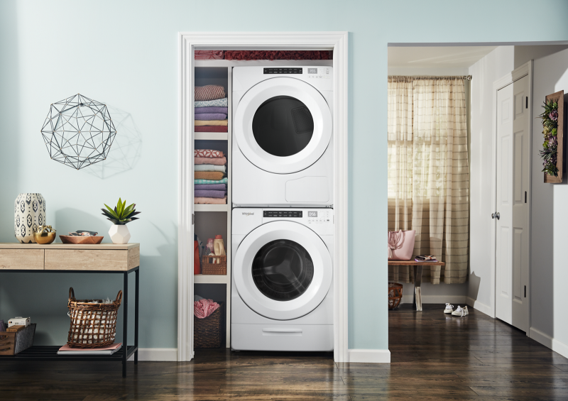 Whirlpoo 4.3 Cu Ft Front Load Washer and 7.4 Cu Ft Electric Dryer