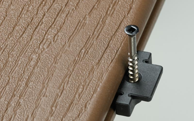 Deckorators Stowaway Hidden deck fastener System Installed Close Up