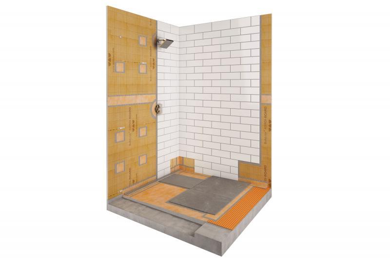 Schluter barrier free shower kerdiboard linear drain