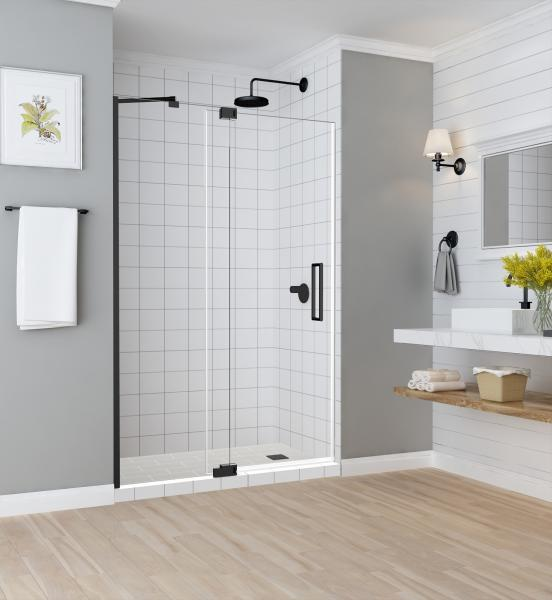 Aston Maddox shower door with oil rubbed bronze