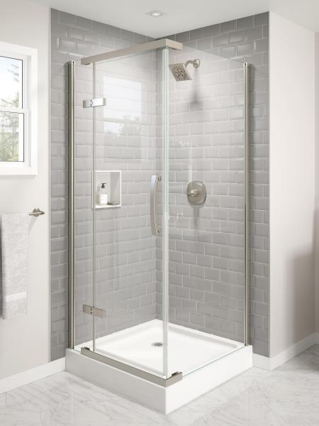 Delta shower door corner