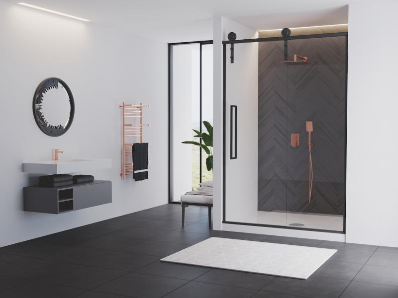 Eclipse semi-frameless coastal shower doors