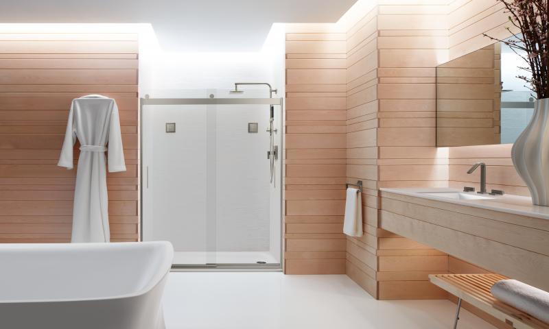 Kohler levity frameless shower door