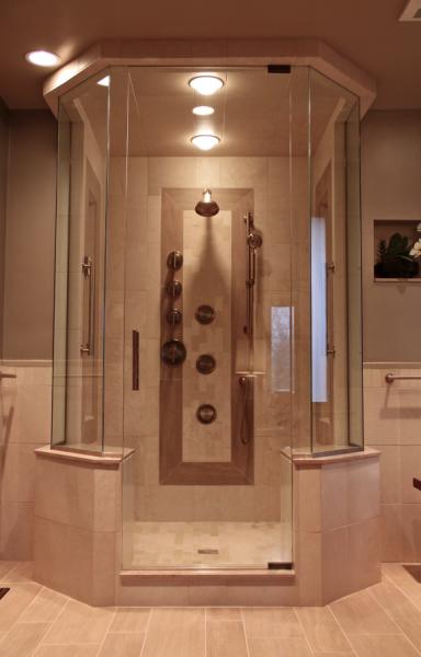 chicago glass and mirror shower door
