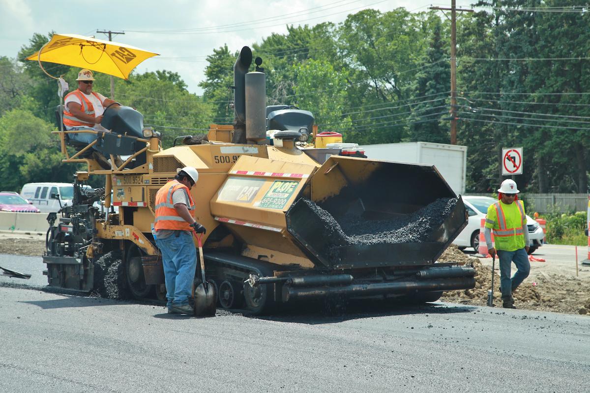 I-355 asphalt paving Illinois Tollway